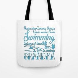 Swimming Grandma Tote Bag