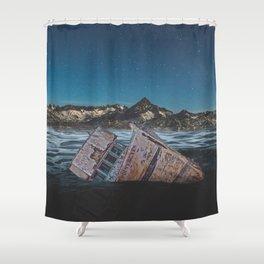 Sunken Ship Shower Curtain