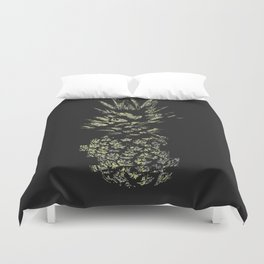 Pineapple with Glitch and Texture Duvet Cover