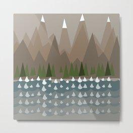 Mountains & Sea Metal Print