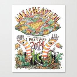 Life Is Beautiful Festival 2014 Canvas Print