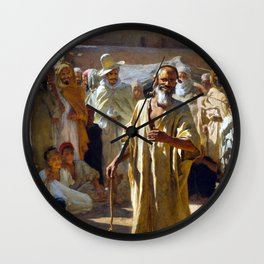 Etienne Dinet The Snake Charmer Wall Clock