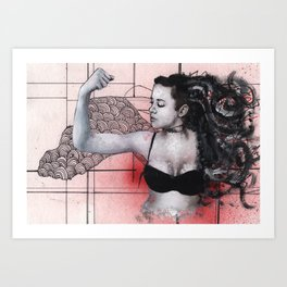 Strength in Red Art Print