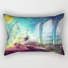 Galileo's Dream - Schooner Art By Sharon Cummings Rectangular Pillow