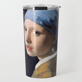 GIRL WITH A PEARL EARRING - JOHANNES VERMEER Travel Mug