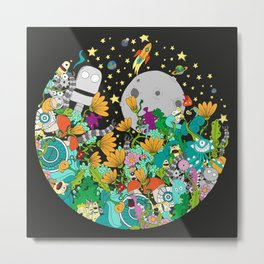 Fantasy kids world Metal Print