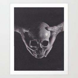 Death in His Hands Art Print