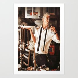 Anthony Bourdain Custom Poster, Travel Art, Chef Custom Canvas, Home Decor, Wall Art, Bourdain Print Art Print