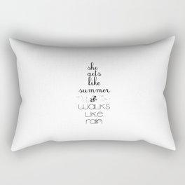 Rainy Summer Rectangular Pillow