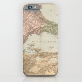 Vintage Map Print - 1896 map of the Sea of Marmara iPhone Case