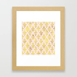 Gold Abstract Lines Pattern Framed Art Print