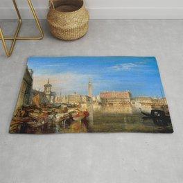 "J.M.W. Turner ""Bridge of Sighs, Ducal Palace and Custom-House, Venice"" Rug"