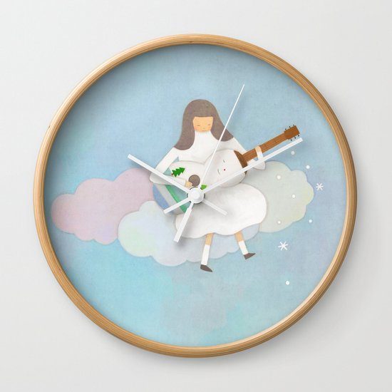 Winter play Wall Clock