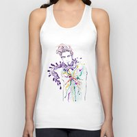 chill Tank Tops featuring Chill by Sarah Soh