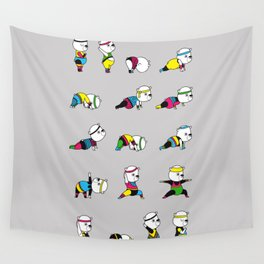 Yoga Bear - 80's Remix Wall Tapestry
