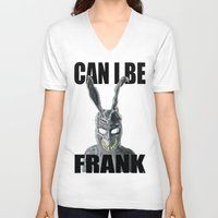 frank V-neck T-shirts featuring Frank by Iamzombieteeth Clothing