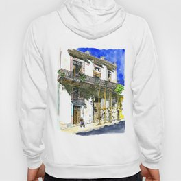 Man Sitting in Front of His House, Habana Vieja, Cuba Hoody