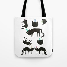Little cats in colourful hats Tote Bag