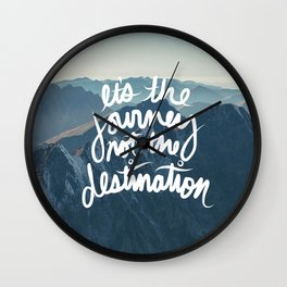 It's the journey not the destination forest camping nature print Wall Clock