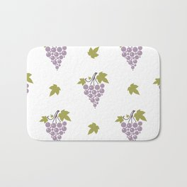 Seamless pattern with bunches of ripe grapes  Bath Mat