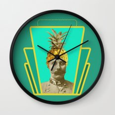 i guess he is a vegan Wall Clock