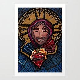 Jesus of the Sacred Heart Art Print