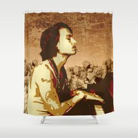 johnny depp Shower Curtains featuring Johnny Depp by victorygarlic - Niki