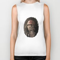 jack sparrow Biker Tanks featuring Capitan Jack Sparrow (as a zombie) - Pirates of the Caribbean by Art of Peach