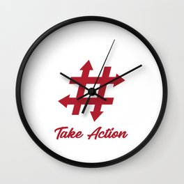 #takeaction Wall Clock