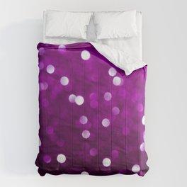 Dark Pink Magenta Fuchsia Sparkly Bokeh Abstract Comforters