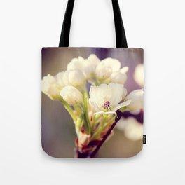 Pear Tree Blooming Tote Bag