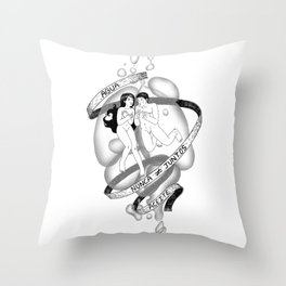 """""""Water and Oil"""" Throw Pillow"""