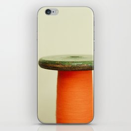 Vintage cotton reel iPhone Skin