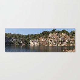 Flat Ledge Quarry Panorama Canvas Print