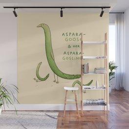 Asparagoose & Her Asparagoslings Wall Mural