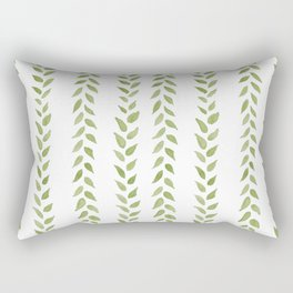 Matcha Greens - nature spring leaves green pattern Rectangular Pillow