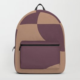 Sand Storm Beige Dark Purple Circle Design 2 Behr 2021 Color of the Year Canyon Dusk Fine Wine Backpack