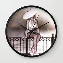 Sitting On The Fence Wall Clock