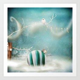Minimal Christmas Art Print