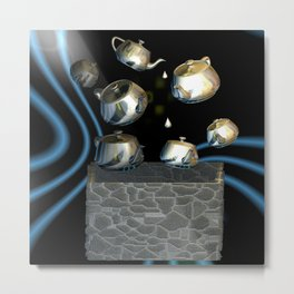 Gold Plated Teapots Metal Print
