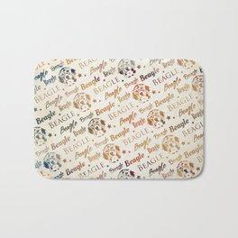 Beagle dog pattern Bath Mat