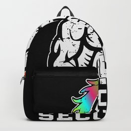 Unicorn Security Dont Mess With My Sister Funny Brother Gift Backpack