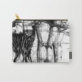 Lady on Table. Workbench. Yury Fadeev. Carry-All Pouch