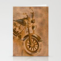motorbike Stationery Cards featuring motorbike grunge by Christine baessler