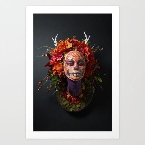 Summer Muertita Front Art Print