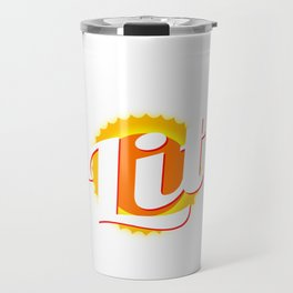 """""""Solar Power Is Lit"""" tee design. Makes an awesome gift to your friends and family! Grab yours now!  Travel Mug"""