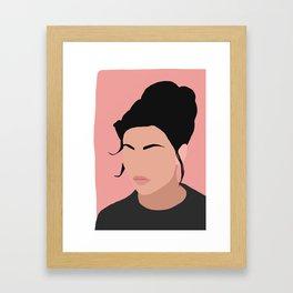 Sonja - a minimal portrait in pink Framed Art Print