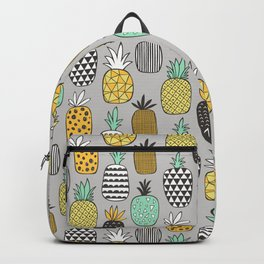 Pineapple Geometric on Grey Backpack