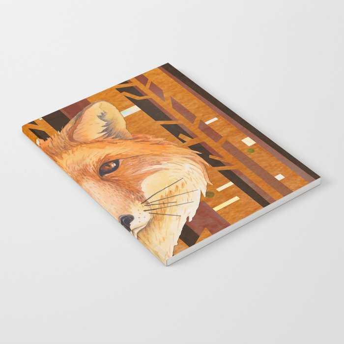 Fox Wild animal in the forest- abstract artwork #Society6 Notebook