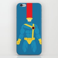 cyclops iPhone & iPod Skins featuring Cyclops by gallant designs
